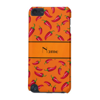 Personalized name orange chili pepper iPod touch (5th generation) cases