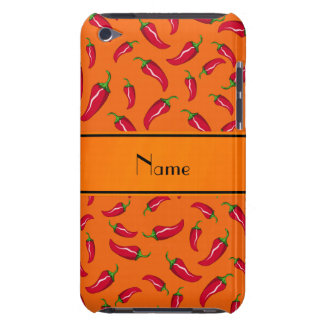 Personalized name orange chili pepper iPod touch cover