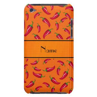 Personalized name orange chili pepper iPod touch cover