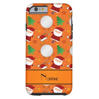 Personalized name orange christmas golfing iPhone 6 case