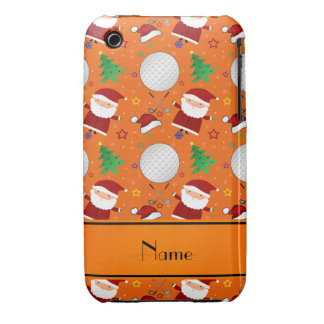 Personalized name orange christmas golfing iPhone 3 Case-Mate case
