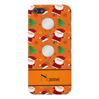 Personalized name orange christmas golfing case for iPhone 5/5S