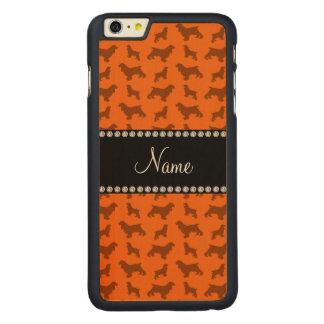 Personalized name orange cocker spaniel carved® maple iPhone 6 plus slim case