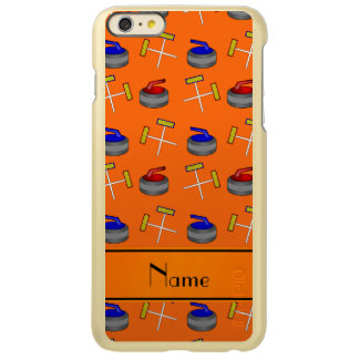 Personalized name orange curling pattern iPhone 6 plus case