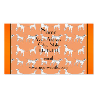 Personalized name orange dalmatian dogs pack of standard business cards