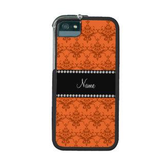 Personalized name Orange damask iPhone 5/5S Case
