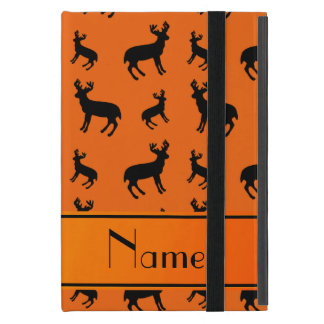 Personalized name orange deer orange stripe iPad mini case
