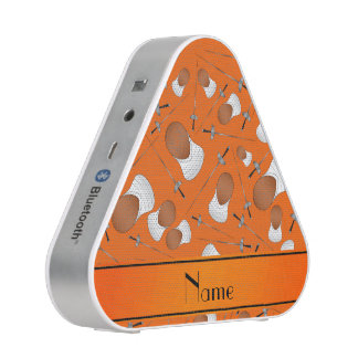 Personalized name orange fencing pattern