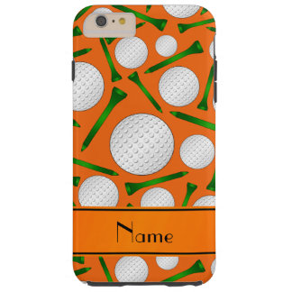 Personalized name orange golf balls tees tough iPhone 6 plus case
