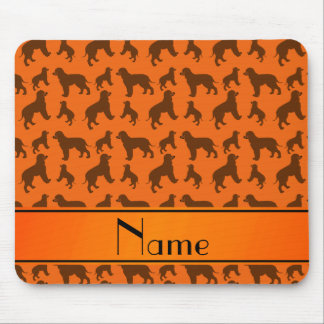 Personalized name orange Irish Water Spaniel dogs Mouse Pad