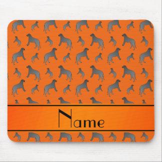 Personalized name orange Irish wolfhound dogs Mouse Pad