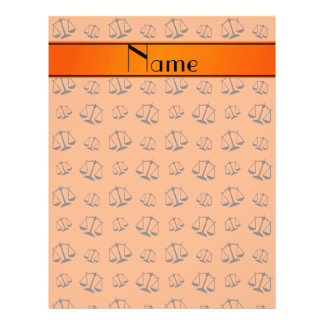 Personalized name orange justice scales 21.5 cm x 28 cm flyer