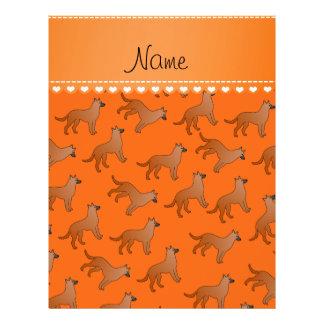 Personalized name orange malinois dogs 21.5 cm x 28 cm flyer
