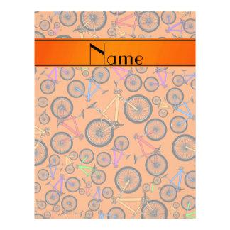 Personalized name orange mountain bikes flyer design