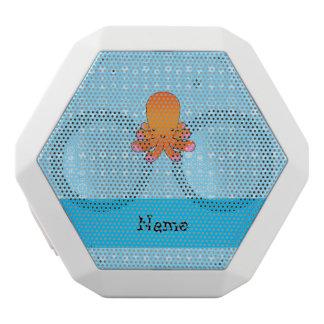 Personalized name orange octopus blue bubbles white boombot rex bluetooth speaker