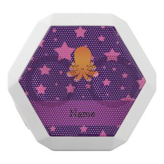 Personalized name orange octopus purple pink stars white boombot rex bluetooth speaker
