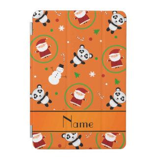 Personalized name orange panda santas christmas iPad mini cover