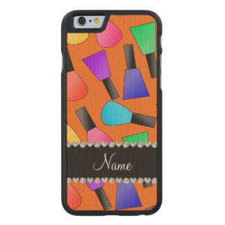 Personalized name orange rainbow nail polish carved® maple iPhone 6 slim case
