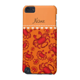 Personalized name orange red crab pattern iPod touch 5G case