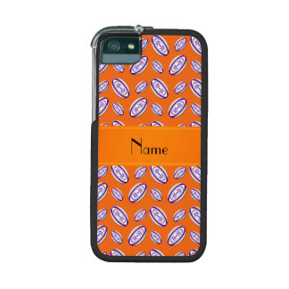 Personalized name orange rugby balls cover for iPhone 5/5S