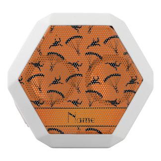 Personalized name orange skydiving pattern