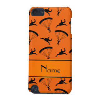 Personalized name orange skydiving pattern iPod touch 5G cover