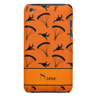Personalized name orange skydiving pattern iPod touch cases