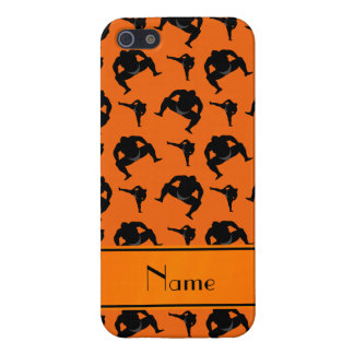 Personalized name orange sumo wrestling iPhone 5/5S covers