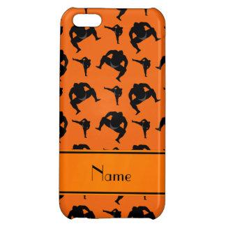 Personalized name orange sumo wrestling iPhone 5C case