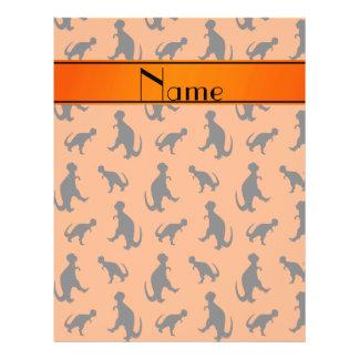 Personalized name orange trex dinosaurs 21.5 cm x 28 cm flyer