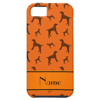 Personalized name orange Vizsla dogs Case For The iPhone 5