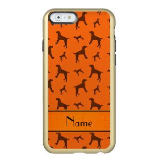 Personalized name orange Vizsla dogs Incipio Feather® Shine iPhone 6 Case