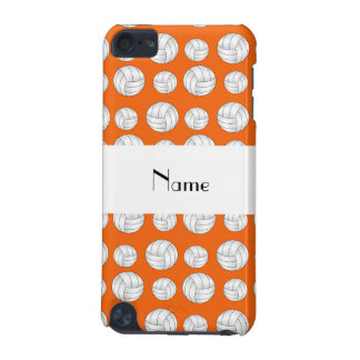 Personalized name orange volleyball balls iPod touch (5th generation) case
