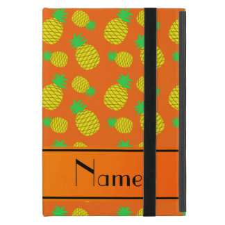 Personalized name orange yellow pineapples cover for iPad mini