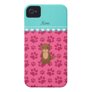 Personalized name otter pink paws iPhone 4 Case-Mate case