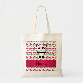 Personalized name panda watermelons hearts rainbow