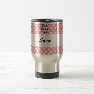 Personalized name panda with cupcake polka dots coffee mugs
