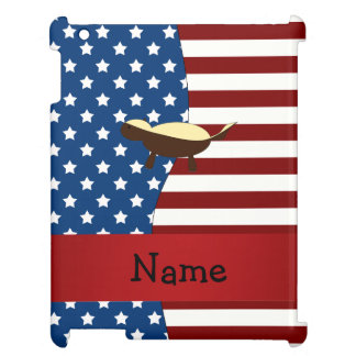 Personalized name Patriotic honey badger Case For The iPad