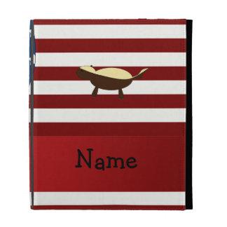 Personalized name Patriotic honey badger iPad Folio Case