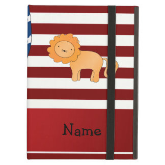 Personalized name Patriotic lion Case For iPad Air