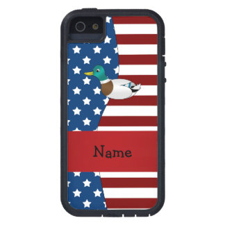 Personalized name Patriotic mallard duck Case For The iPhone 5