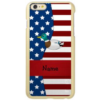 Personalized name Patriotic mallard duck Incipio Feather® Shine iPhone 6 Plus Case