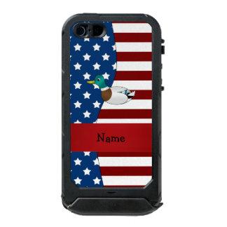 Personalized name Patriotic mallard duck Incipio ATLAS ID™ iPhone 5 Case
