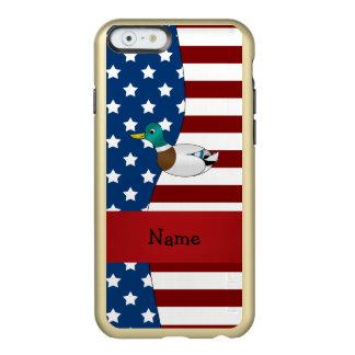 Personalized name Patriotic mallard duck Incipio Feather® Shine iPhone 6 Case