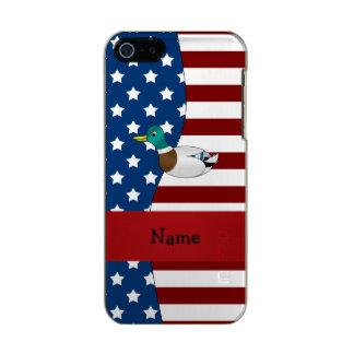Personalized name Patriotic mallard duck Incipio Feather® Shine iPhone 5 Case