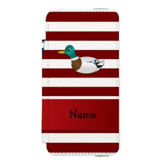 Personalized name Patriotic mallard duck Incipio Watson™ iPhone 5 Wallet Case