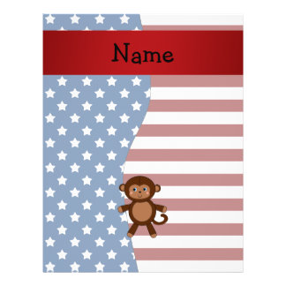 Personalized name Patriotic monkey Flyers