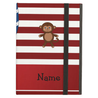 Personalized name Patriotic monkey iPad Folio Cases