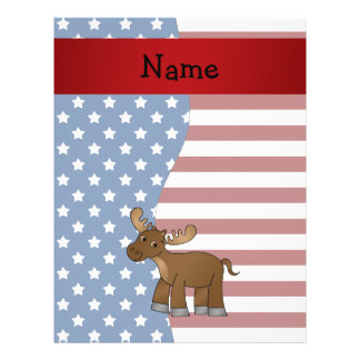 Personalized name Patriotic moose Flyer Design