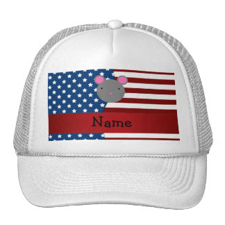 Personalized name Patriotic mouse Trucker Hat